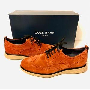 Cole Haan Oxford Dress Shoes Brown Suede Mens Sz 9